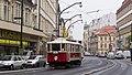 Prague historic tram 2172 (14832654923).jpg
