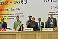 Pranab Mukherjee, the Union Minister for Human Resource Development, Smt. Smriti Irani, the Secretary, Higher Education, MHRD, Shri Ashok Thakur and the Secretary, School Education & Literacy, MHRD.jpg
