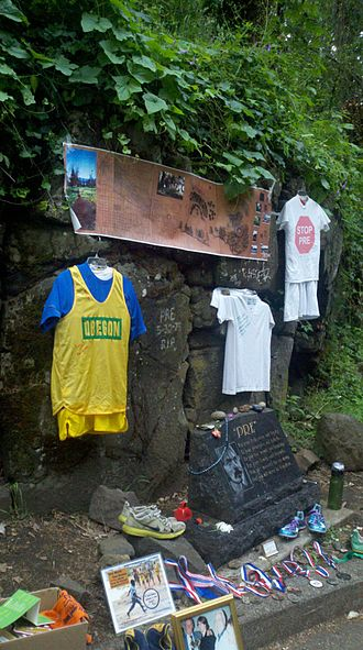 Steve Prefontaine - Pre's Rock in June 2012, during the U.S. Olympic Trials