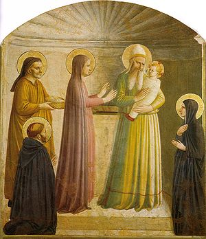 Presentation at the Temple (Fra Angelico) - Presentation of Jesus at the Temple by Fra Angelico