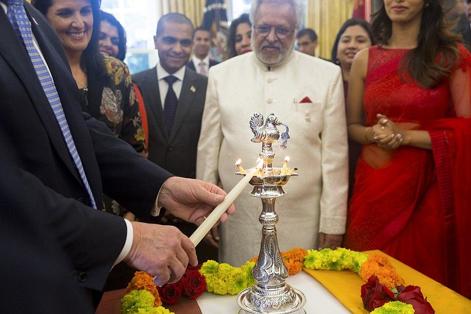 President Trump participates in a Diwali Ceremonial Lighting of the Diya - October 19, 2017