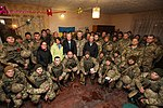 President of Ukraine Petro Poroshenko congratulated Ukrainian warriors on New Year and Christmas and heard the report on the situation in the ATO area, 31 December 2016 (3).jpg