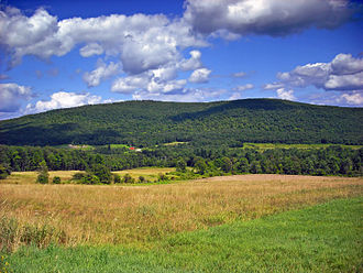Orson, Pennsylvania - Mount Ararat, as seen from approximately the same spot, but facing southeast.