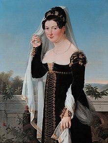 Prinzessin Adelheid von Anhalt-Bernburg-Schaumburg-Hoym (1800–1820), Erbprinzessin zu Lübeck, Erbprinzessin von Oldenburg aufgrund der im Jahr 1817 erfolgten Verehelichung mit dem nachmaligen Großherzog Paul Friedrich August von Oldenburg aus dem Hause Holstein-Gottorp (Quelle: Wikimedia)
