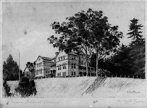 Wesley College, Auckland - Prince Albert College in Upper Queen Street, Auckland