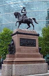 Prince Albert Equestrian Statue, Holborn (cropped).JPG