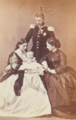 Prince and Princess Leopold, with their son and Princess Marie of Hohenzollern-Sigmaringen (1866) - G & A Overbeck, Düsseldorf.png