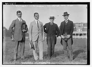 Carl Diem - From left to right: Weitzer, Lt. Reichenau, Dr. Bemer, and Carl Diem in 1913 at Princeton University