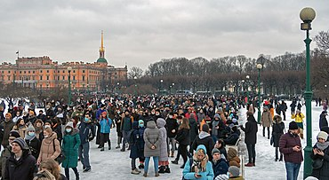 Protests against the arrest of opposition politician Alexei Navalny. Saint Petersburg, 23 January 2021.jpg