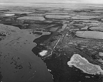 Prudhoe Bay Oil Field - 1971 aerial photo of the oil fields by the United States Fish and Wildlife Service.