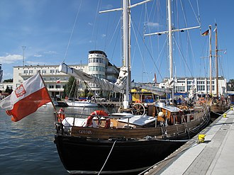 Port of Gdynia - Ships at the seaport of Gdynia.