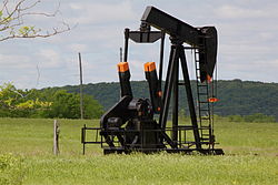 Oil pump in Glenpool, Oklahoma