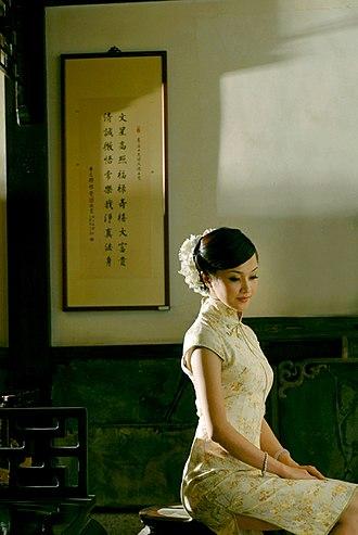 Cheongsam - A woman in a cheongsam
