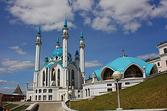 Islam in Russia - Qolşärif Mosque in Kazan, belonging to Hanafite version of Sunni Islam is one of the largest mosques in Russia.