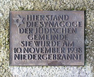 Quakenbrück - Memorial plate Jewish synagogue