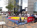 Queen's Baton Relay - Centenary Square - Wrestling (14330620912).jpg