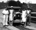 Queensland State Archives 3854 Mr Jones and party with Mr Cooks car at Maleny c 1932.png