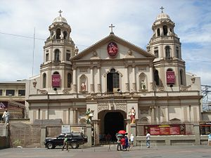 Quiapo, Manila - Façade of the Minor Basilica of the Black Nazarene
