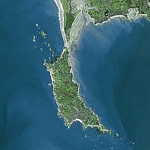 Quiberon - Quiberon seen from Spot Satellite