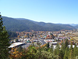 Quincy, California - Image: Quincy, California from Q on mountain