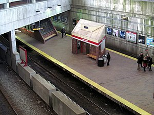 Quincy Adams (MBTA station) - Quincy Adams station platform viewed from above