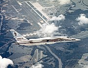 RA-5C RVAH-14 in flight over NAS Albany 1969