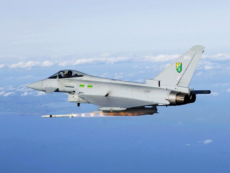 RAF Typhoon Firing ASRAAM Missile MOD 45155899