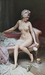 After the Bath (Female Nude)