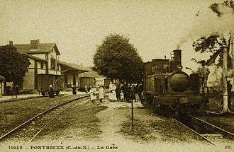 Réseau Breton - Pontrieux station, 1900