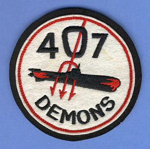 407 Long Range Patrol Squadron - Image: RCAF 407 Demons Sqn Crest Craft patch
