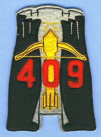 409 Tactical Fighter Squadron - A Cold War 409 Squadron flight suit patch, circa 1955.