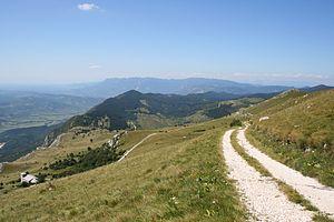 Hrušica (plateau) - View of the Hrušica Plateau from Mount Nanos