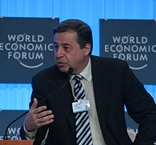 Rachid Mohamed Rachid, during the World Economic Forum on the Middle East at the Dead Sea in Jordan, 2009.