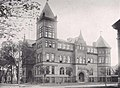 Racine High School building in 1915 detail, Kipikawi Yearbook 1915 from Racine High School, Racine, Wisconsin, USA (page 8 crop).jpg