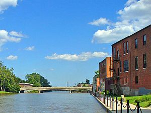 River Raisin - The River Raisin passing through Monroe, Michigan