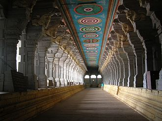 Ramanathapuram district - Corridors of the Rameshwaram temple