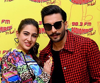 Ranveer Singh - Singh and Sara Ali Khan promoting Simmba in 2018