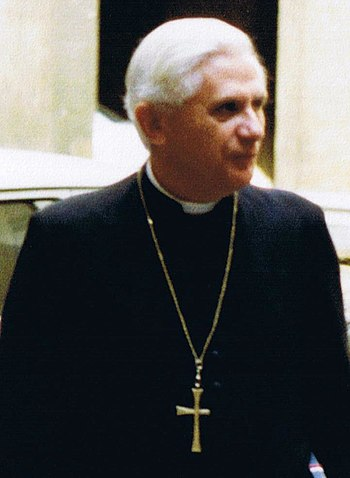 English: Cardinal Joseph Ratzinger in Rome (Sa...
