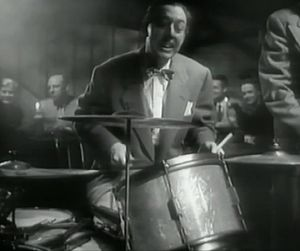 Ray Bauduc - Bauduc in the movie The Fabulous Dorseys, 1947