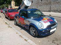 Red Bull Mini Faltdach Cabrio (front) Kroatien.JPG