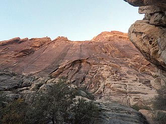 The left side of Black Velvet wall in Red Rock Canyon National Conservation Area features the five-pitch, sparsely protected Sandstone Samurai 5.11a X Red Rocks - Black Velvet Wall - 1.jpg
