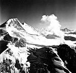 Redoubt Volcano, mountain glacier with bergschrund, August 22, 1968 (GLACIERS 6779).jpg