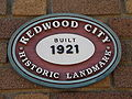 Redwood City Main Downtown Library historic landmark plaque.JPG