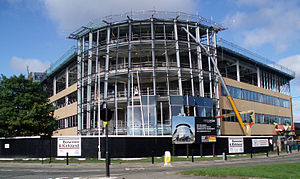 Regent Centre - Regent Point during construction in October 2008