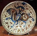 Regione valenciana o catalogna, piatto con lustro metallico, 1600-33 ca..JPG