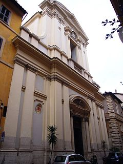 Santa Lucia del Gonfalone church building in Rome, Italy