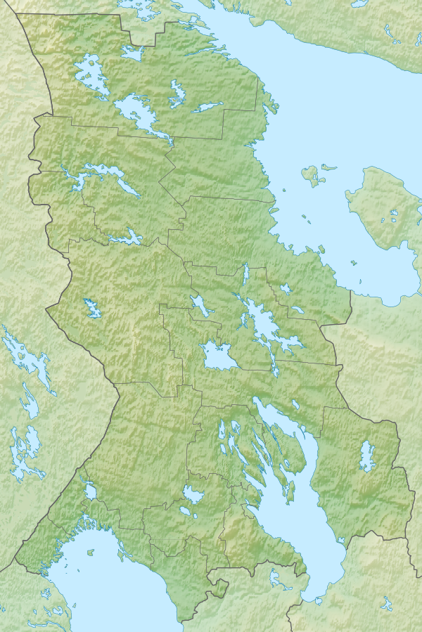Landing site is located in Karelia