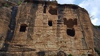 Khinnis Reliefs Assyrian rock relief in Iraq