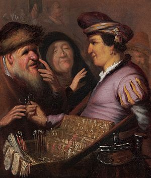 The Senses (Rembrandt) - A Pedlar Selling Spectacles (Allegory of Sight)