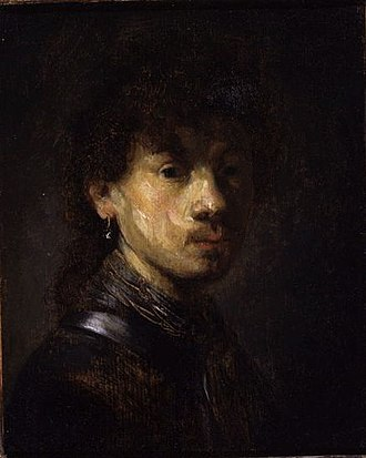 Rembrandt catalog raisonné, 1935 - Image: Rembrandt Self portrait or Bust of a Young Man Fogg